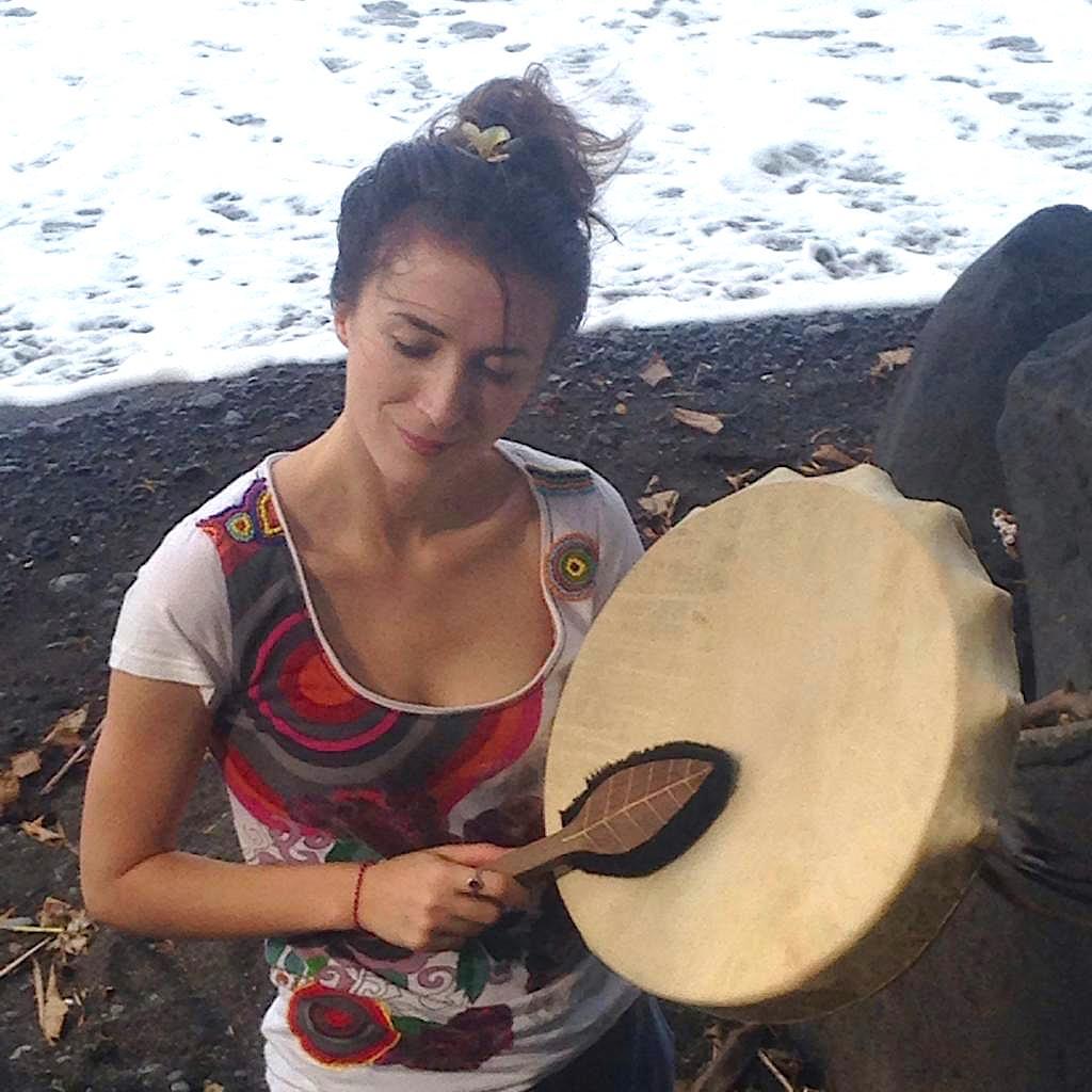 Meine schamanische Trommel und ich auf Bali 2019